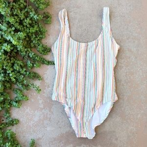 Madewell Second Wave Stripe One Piece Swimsuit